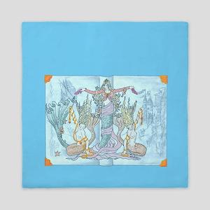 mermaid tales Queen Duvet