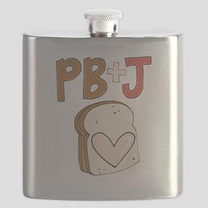 PB and J Sandwich Heart Flask
