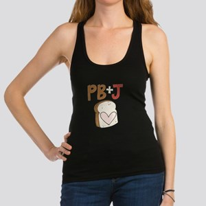 PB and J Sandwich Heart Racerback Tank Top