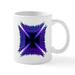 Blue Flaming Biker Cross Mug
