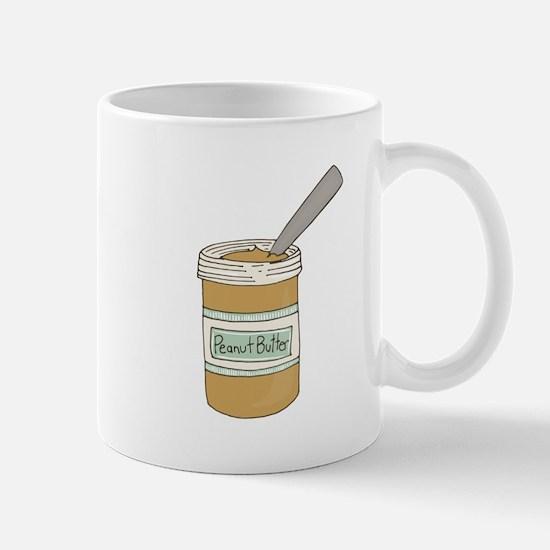 Peanut Butter Jar Mugs
