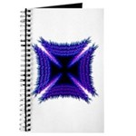 Blue Flaming Biker Cross Journal