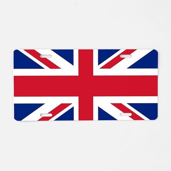 UK Flag Aluminum License Plate