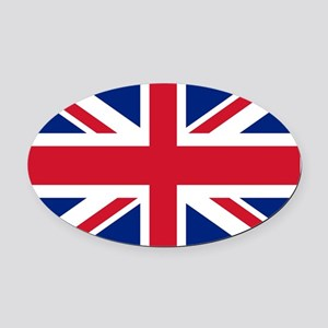 UK Flag Oval Car Magnet