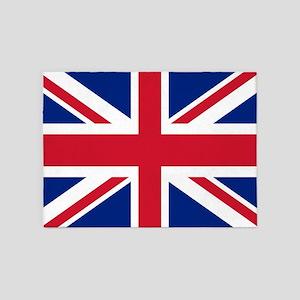 UK Flag 5'x7'Area Rug