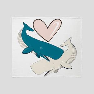 Whale Love Throw Blanket