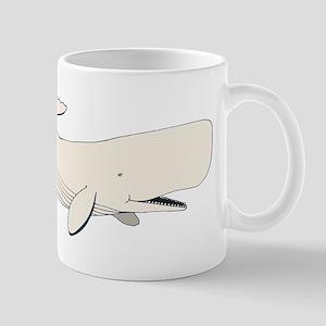 White Sperm Whale Mugs