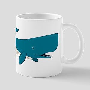 Blue Sperm Whale Mugs