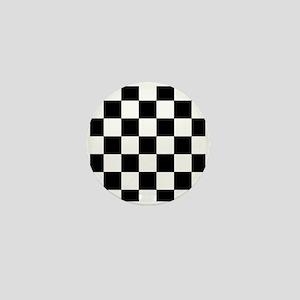 Checkered Pattern Mini Button