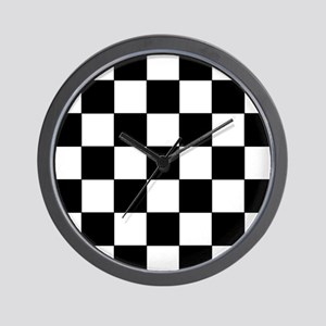 Checkered Pattern Wall Clock