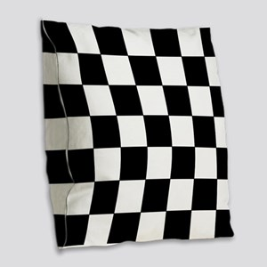 Checkered Pattern Burlap Throw Pillow