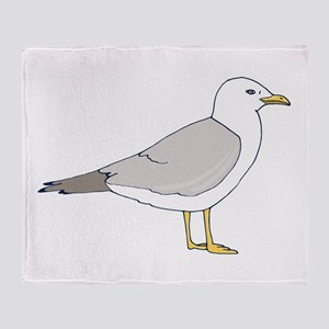 Sea Gull Throw Blanket