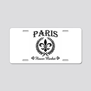 PARIS FLOWER MARKET Aluminum License Plate