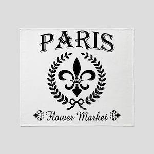 PARIS FLOWER MARKET Throw Blanket