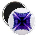 Blue Flaming Biker Cross Magnet