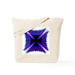 Blue Flaming Biker Cross Tote Bag