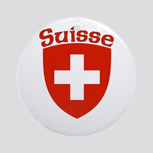 Suisse Coat of Arms Ornament (Round)