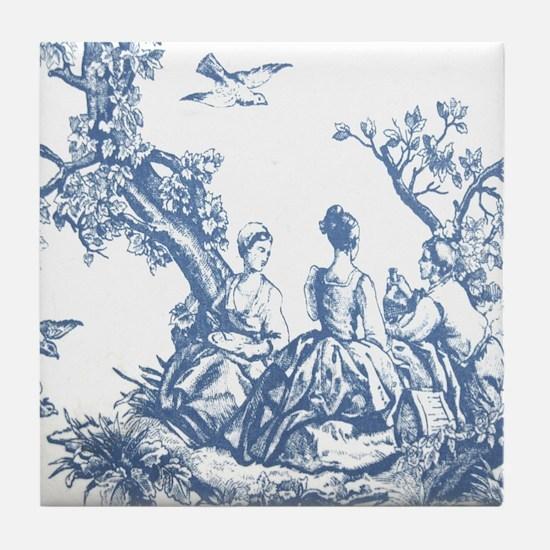 FRENCH TOILE Tile Coaster