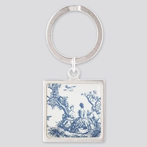 FRENCH TOILE Square Keychain