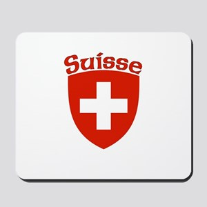 Suisse Coat of Arms Mousepad