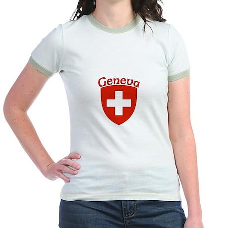 Geneva, Switzerland Jr. Ringer T-Shirt