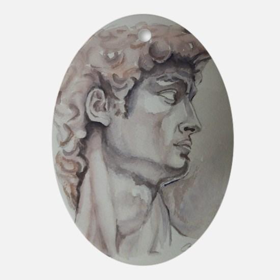 David de Michelangelo Ornament (Oval)