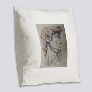 David de Michelangelo Burlap Throw Pillow