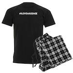 I Love Massage Men's Dark Pajamas