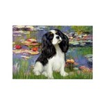 Lilies and Tri Cavalier Rectangle Magnet (10 pack)
