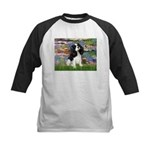 Lilies and Tri Cavalier Kids Baseball Jersey