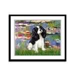 Lilies and Tri Cavalier Framed Panel Print