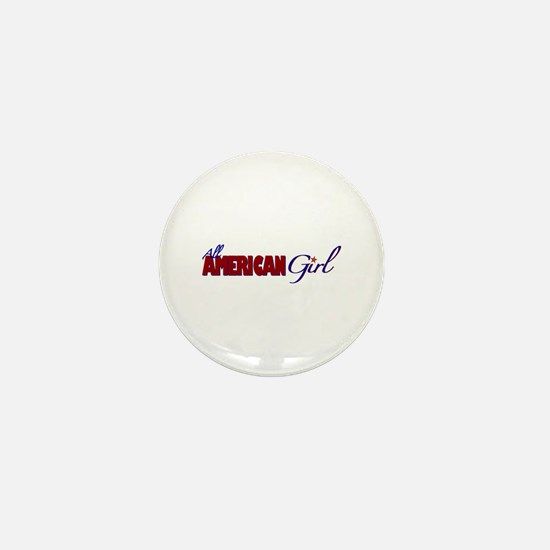 All American Girl Mini Button