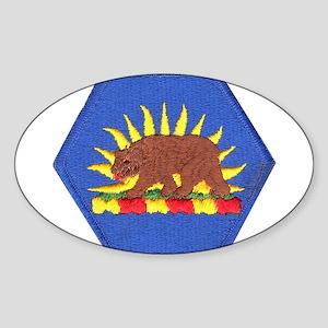 California Military Reserve Oval Sticker