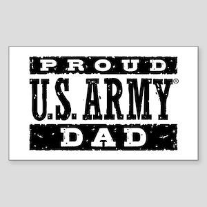 Proud U.S. Army Dad Sticker (Rectangle)