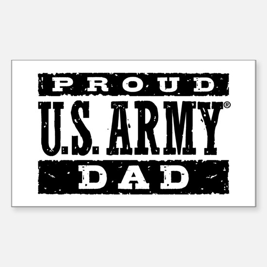 Proud u s army dad sticker rectangle