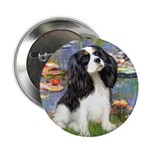 Lilies and Tri Cavalier Button