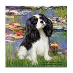 Lilies and Tri Cavalier Tile Coaster