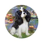 Lilies and Tri Cavalier Ornament (Round)