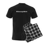 Massage Here Men's Dark Pajamas