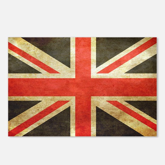 Vintage Union Jack Postcards (Package of 8)