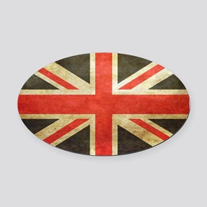 Vintage Union Jack Oval Car Magnet