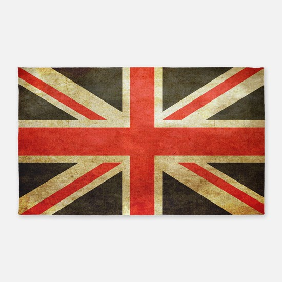 Vintage Union Jack 3 X5 Area Rug