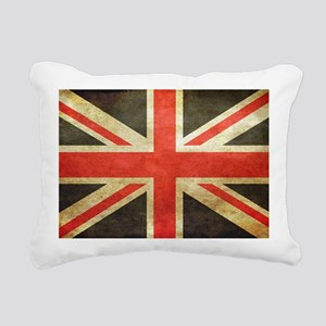 Vintage Union Jack Rectangular Canvas Pillow