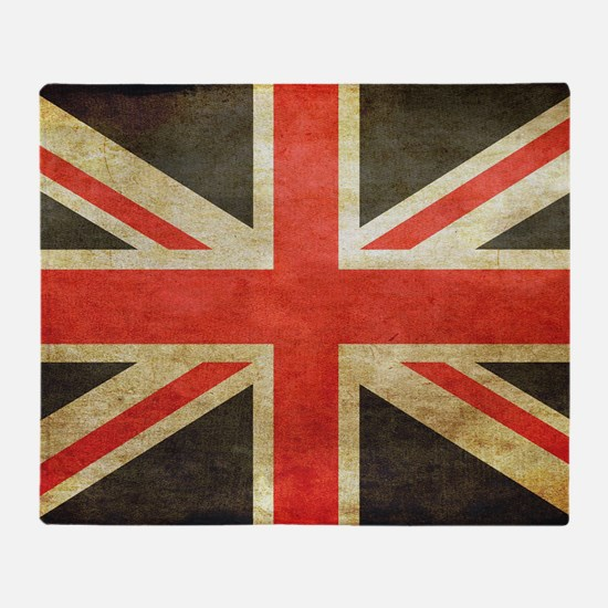 Vintage Union Jack Throw Blanket