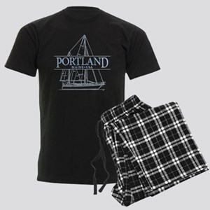 Portland Maine - Men's Dark Pajamas