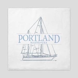 Portland Maine - Queen Duvet