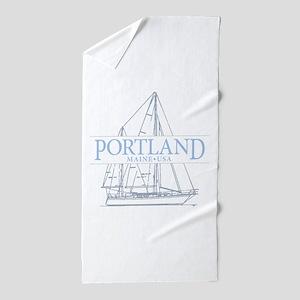 Portland Maine - Beach Towel