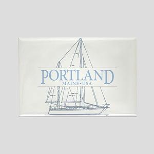Portland Maine - Rectangle Magnet