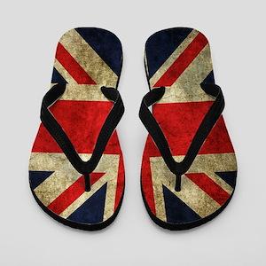 Grunge Uk Flag Flip Flops