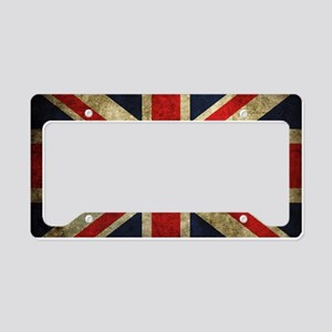 Grunge Uk Flag License Plate Holder